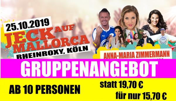 Jeck auf Mallorca Gruppenticket - 25.10.2019 Rhein Roxy Köln
