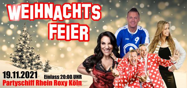 Weihnachtsfeier Partyschiff Köln - 19.11.2021