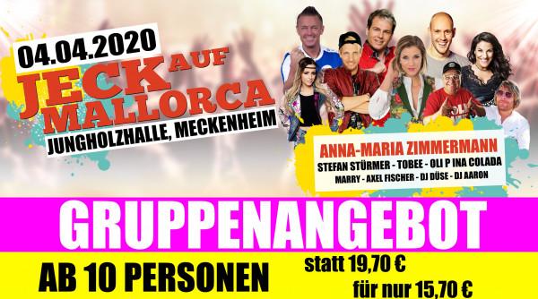 Jeck auf Mallorca Gruppenticket - 04.04.2020 Meckenheim
