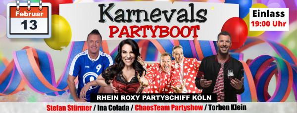 Karnevals Partyboot Partyschiff Köln - 13.02.2021