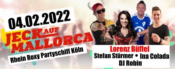 Jeck auf Mallorca Partyschiff Köln - 04.02.2022