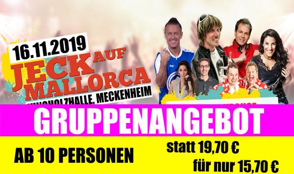 Jeck auf Mallorca Gruppenticket - 16.11.2019 in Meckenheim